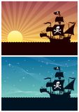 Pirate Backgrounds stock illustration