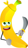 Pirate banana with sword Stock Image
