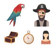 Pirate, bandit, hat, bandage .Pirates set collection icons in cartoon style vector symbol stock illustration web. Pirate, bandit, hat, bandage .Pirates set Royalty Free Stock Images