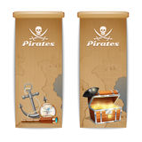 Pirate Banner Vertical Royalty Free Stock Image