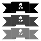 Pirate banners Stock Photos