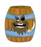 Pirate Barrel cartoon Royalty Free Stock Photography