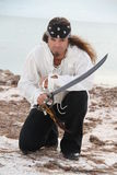 Pirate on Beach Royalty Free Stock Photos
