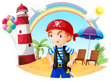 A pirate at the beach Stock Image