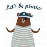 Pirate bear Stock Photos