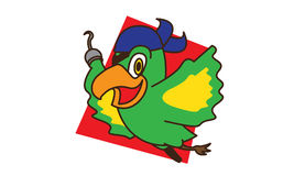 Pirate bird fly Stock Photography