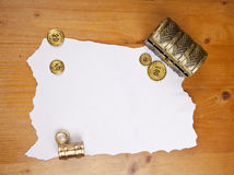 Pirate blank map with treasure Royalty Free Stock Photo