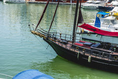Pirate boat moored in Marbella, Spain city summer Royalty Free Stock Image