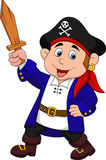 Pirate boy cartoon stock illustration