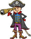 Pirate boy cartoon illustration Royalty Free Stock Image