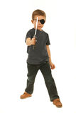 Pirate boy with toy sword Royalty Free Stock Images