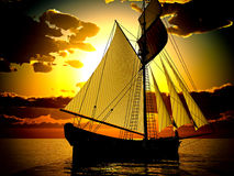 Pirate brigantine Stock Images