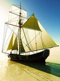 Pirate brigantine Royalty Free Stock Images