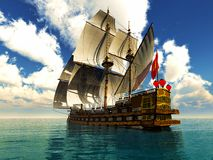 Pirate brigantine Stock Photo
