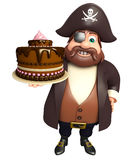 Pirate with Cake stock image