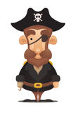 Pirate Captain. Cute Pirate Captain. Cartoon Character Stock Image