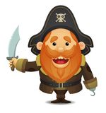 Pirate Captain stock illustration