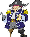 Pirate captain. Color vector illustration of pirate captain Royalty Free Stock Photos