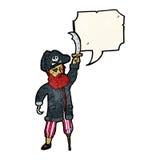 Pirate captain cartoon Stock Photography