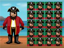 Pirate Captain Cartoon Emoticon Faces Vector Illustration Royalty Free Stock Images