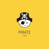 Pirate captain head Stock Photography