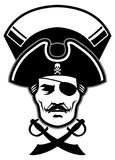 Pirate captain head mascot Stock Photos