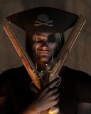 Pirate Captain with Pistols Stock Photos