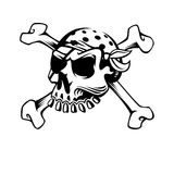 Pirate captains skull Royalty Free Stock Image