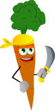 Pirate carrot with sword Stock Photo