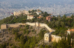 Pirate castle in Alanya Royalty Free Stock Photos