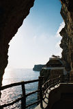 Pirate Cave in a cliff Royalty Free Stock Image