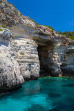 Pirate cave at Menorca Stock Image