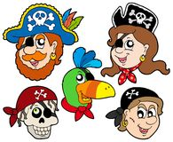 Pirate characters collection stock photography