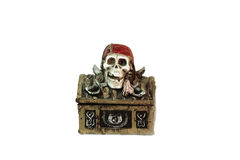 Pirate chest. Isolated on white background royalty free stock photo