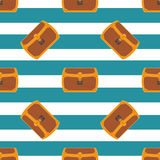 Pirate chest seamless pattern illustration Royalty Free Stock Photos