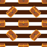 Pirate chest seamless pattern illustration Stock Image