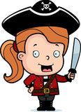 Pirate Child. A happy cartoon child pirate holding a sword Stock Photo