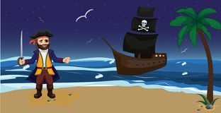 Pirate. Children vector illustration vector illustration