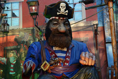 Pirate at Christmas fair Royalty Free Stock Image