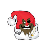 Pirate Christmas hat cartoon Royalty Free Stock Image
