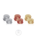 Pirate Coins Two Columns Royalty Free Stock Photos