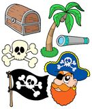 Pirate collection 2. Vector illustration Royalty Free Stock Photography