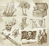 Pirate collection Stock Photos