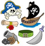 Pirate collection 3. Various objects - vector illustration Royalty Free Stock Photo