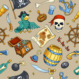 Pirate color seamless pattern stock illustration