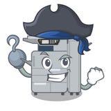 Pirate copier machine in the cartoon shape. Vector illustration stock illustration