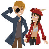 Pirate couple Royalty Free Stock Images