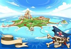 Free Pirate Cove Island - Treasure Map Royalty Free Stock Photos - 52085028