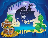 Pirate cove topic image 5 Royalty Free Stock Photos