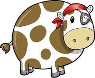 Pirate Cow Vector Illustration Royalty Free Stock Image